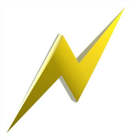 Power or high voltage hazard 3D sign