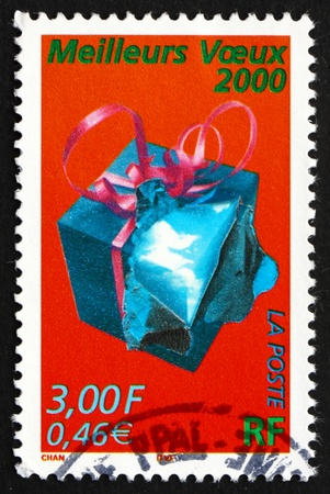 FRANCE - CIRCA 1999: a stamp printed in the France shows Best Wishes for New Year, circa 1999