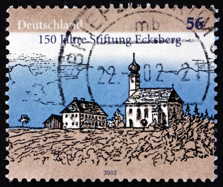 GERMANY - CIRCA 2002: a stamp printed in the Germany shows Ecksberg Foundation for the Mentally Handicapped, 150th Anniversary, circa 2002