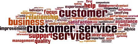 Customer Service word cloud concept. Vector illustration