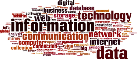Information word cloud concept. Vector illustration