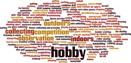 Illustration pour Hobby word cloud concept. Vector illustration - image libre de droit