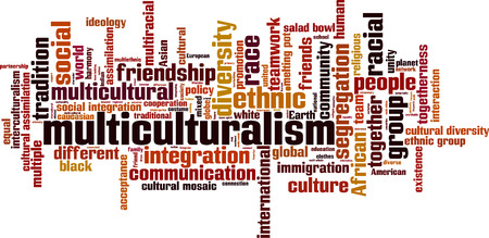 Multiculturalism word cloud concept. Vector illustration