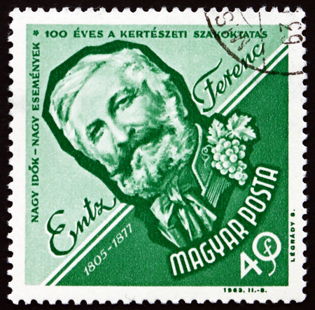 HUNGARY - CIRCA 1963: a stamp printed in the Hungary shows Entz Ferenc, Hungarian Horticulturist, Scholar and Publicist, circa 1963