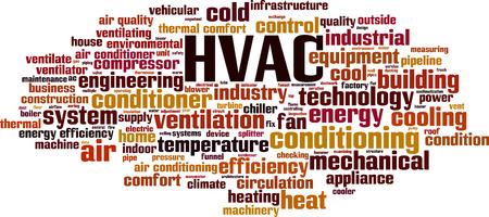 HVAC word cloud concept. Vector illustration