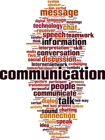 Ilustración de Communication word cloud concept. Vector illustration - Imagen libre de derechos