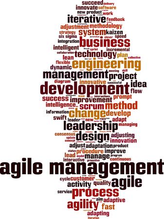 Illustration pour Agile management word cloud concept. Vector illustration - image libre de droit