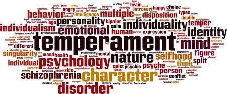 Temperament word cloud concept. Vector illustration
