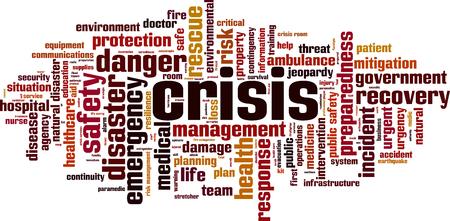 Illustration pour Crisis word cloud concept. Vector illustration - image libre de droit