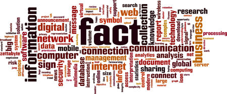 Fact word cloud concept. Vector illustration