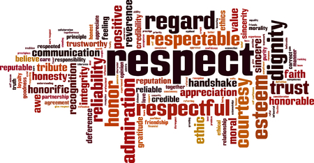 Illustration pour Respect word cloud concept illustration - image libre de droit