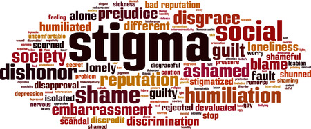 Illustration pour Stigma word cloud concept - image libre de droit