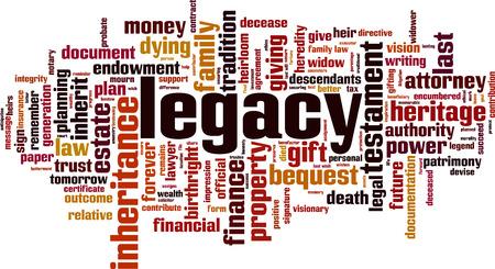 Illustration pour Legacy word cloud concept - image libre de droit