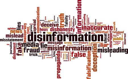 Photo pour Disinformation word cloud concept. Vector illustration - image libre de droit