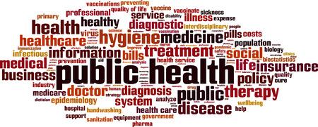 Illustration pour Public health word cloud concept. Vector illustration - image libre de droit