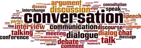Conversation word cloud concept. Vector illustrationの素材 [FY310164055359] | ストックフォトのamanaimages PLUS