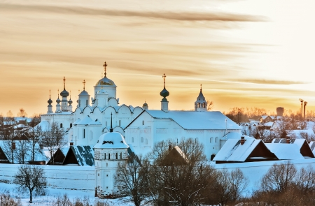 Kind on convent of the Intercession in Suzdal, Russia