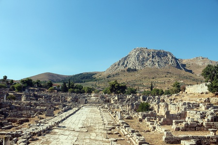 ruins of Ancient Corinth in Greece