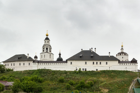 Holy Dormition Monastery of Sviyazhsk is a monastery for men now on the island of Sviyazhsk, located at the confluence of the Volga and Sviyaga Rivers upstream from the city of Kazan, Tatarstan, Russia.