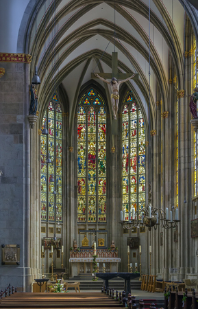 The Basilica of St. Ursula is one of the twelve Romanesque churches of Cologne, Germany. Interior