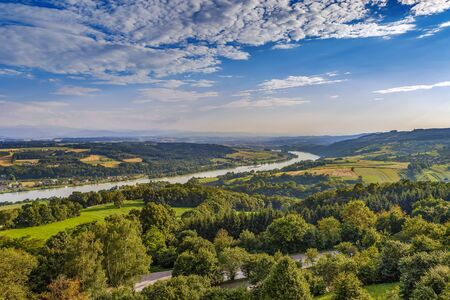 view of the Danube River Valley near Melk, Austria