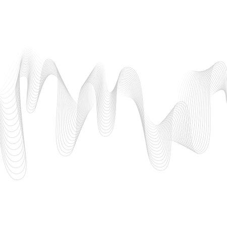 Illustration pour abstract pattern colored waves spectrum blue green gradient transition transparent vibration digital background - image libre de droit