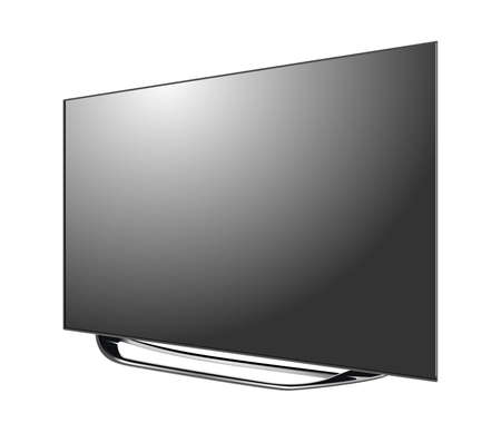 Illustration pour Black LED tv screen blank isolated on white background - image libre de droit