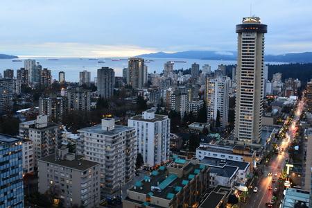 Vancouver skyline and English Bay
