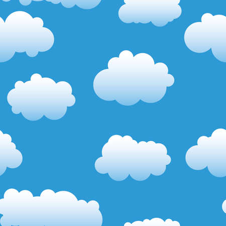 Abstract clouds background. Seamless. White - blue palette. Vector illustration.