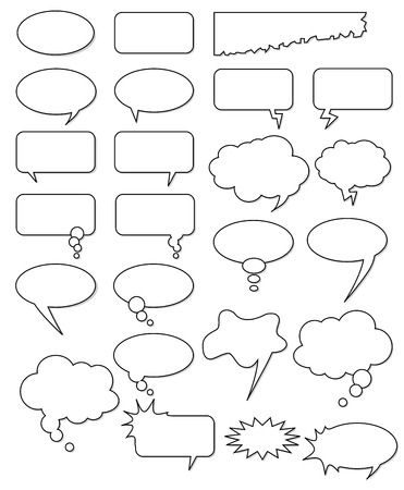 Illustration pour Collection of different empty vector shapes for comics or web. Add text, easy to edit, any size. - image libre de droit