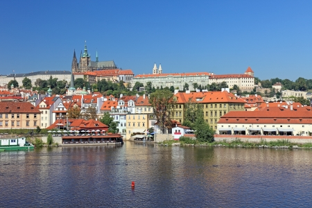 Beautiful cityscape of old Prague, capital of Czech Republic.