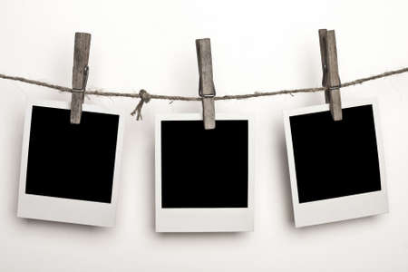 Three Polaroids on a white background