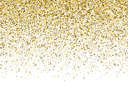 Gold sparkle template for your text. Explosion of confetti circles. Template for your design.