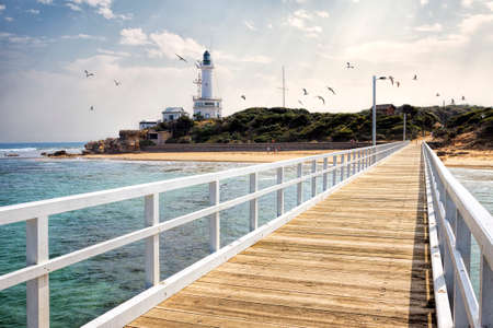 Photo pour Point Lonsdale jetty, Bellarine Peninsula, Victoria, Australia - image libre de droit