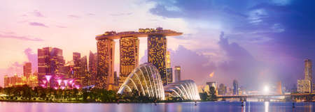 Photo pour Singapore skyline background - image libre de droit