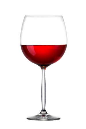 Foto für Red wine in glass isolated on white - Lizenzfreies Bild