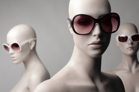 Mannequins wearing fashion sunglasses