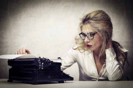 young journalist with typewriter