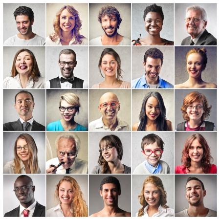 Foto de different kind of people smiling - Imagen libre de derechos