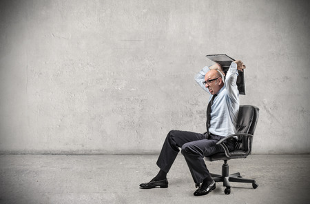 Photo for angry businessman - Royalty Free Image