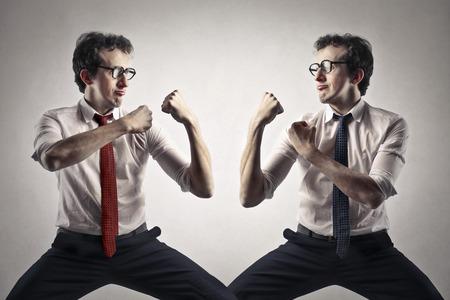 fighting businessman