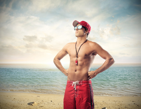 Handsome lifeguard