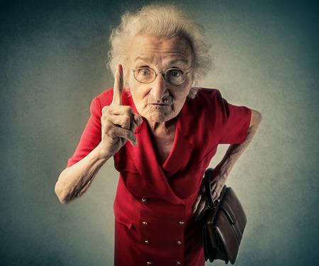 Foto de Angry grandma - Imagen libre de derechos
