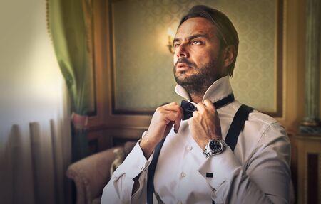 Elegantly dressed businessman