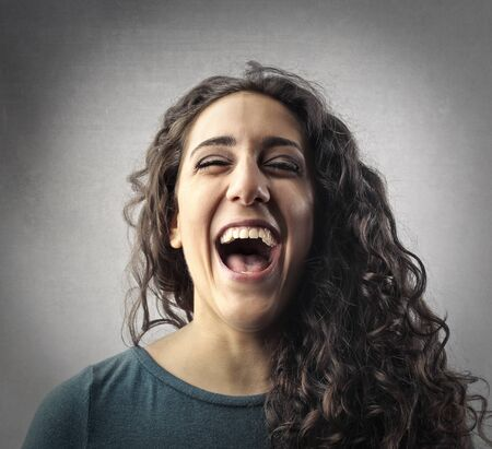 Photo for Laughing woman's portrait - Royalty Free Image