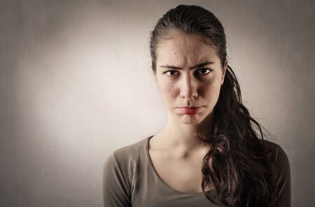 Photo pour Disappointed woman's portrait - image libre de droit
