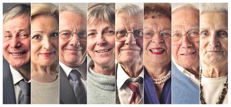 Elderly people's portraits