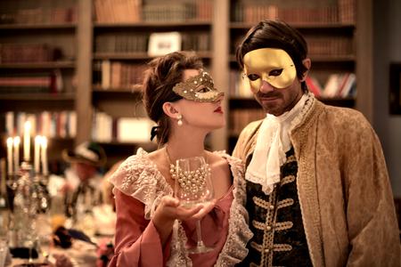 Foto de Man and woman at the party - Imagen libre de derechos
