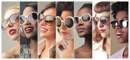 Photo pour Women wearing sunglasses - image libre de droit