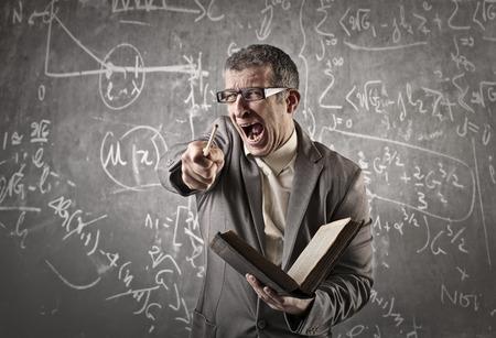 Foto de Angry teacher shouting - Imagen libre de derechos